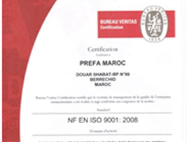 Certification ISO 2008