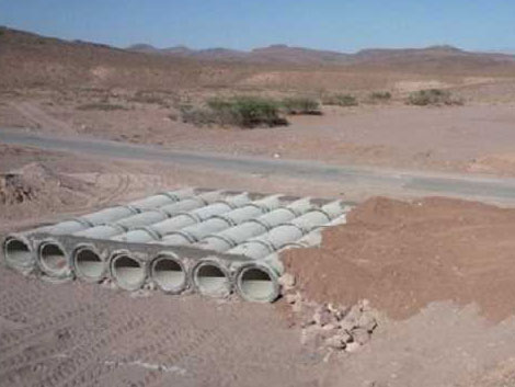 Travaux de construction de la route nationale Taznakht-Ouarzazate